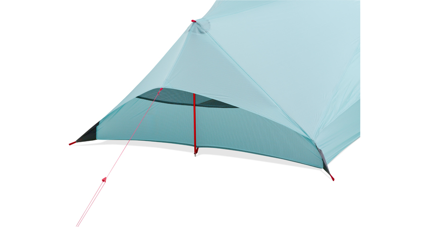 The back view of the MSR Flylight Tent, 78 kb