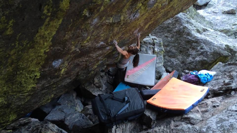 Alex Puccio on Jade, ~8B+, RMNP, CO, USA, 81 kb
