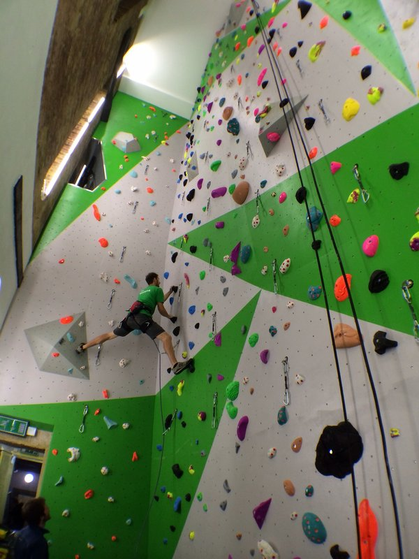 New Wells open at the Castle Climbing Centre, 85 kb