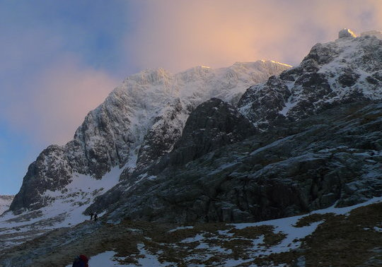 Sunset on the north face of Ben Nevis, 56 kb