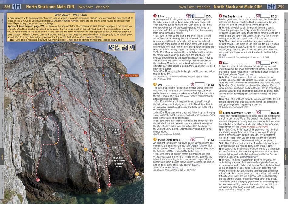 RockFax Guidebook page - Wen Zawn, Gogarth, 245 kb
