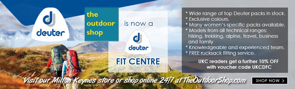 The Outdoor Shop is now a Deuter Fit Centre