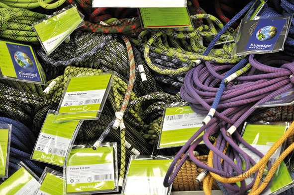 A selection of EDELRID ropes