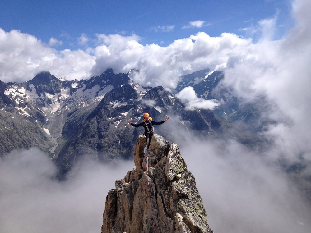 Top of the world on the Aiguille Dibona, 123 kb