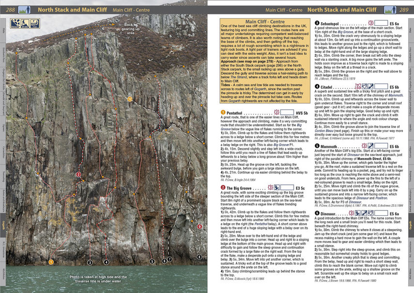 Example Page from North Wales Climbs, Gogarth Main Cliff, 180 kb