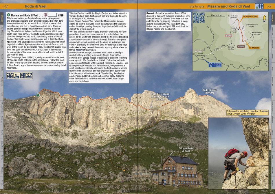 Dolomites Rockfax - Example VF page, 221 kb