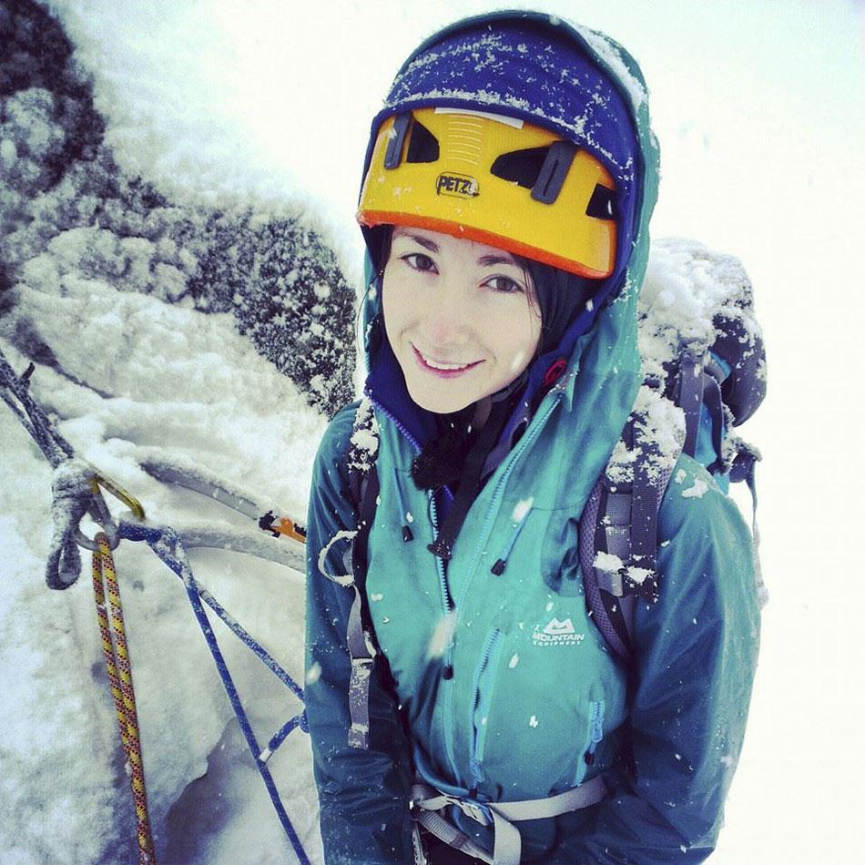 Natalie Berry winter climbing. © UKC News