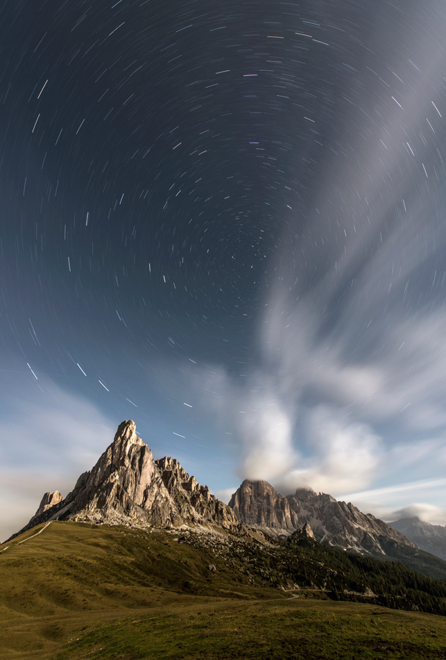 Moonlight on the Passo Giau, 224 kb