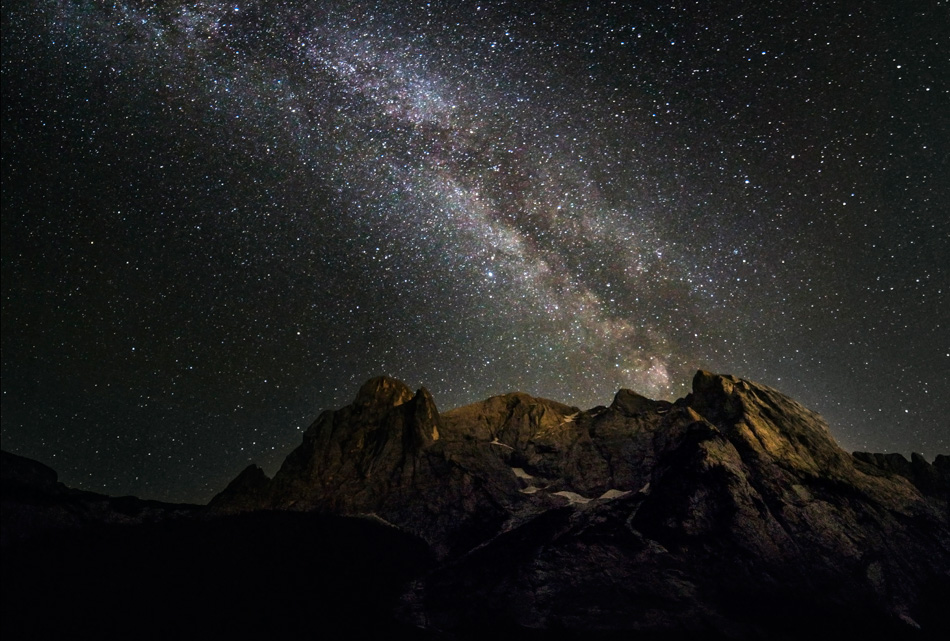 The Milky Way over the Gran Vernel, 229 kb