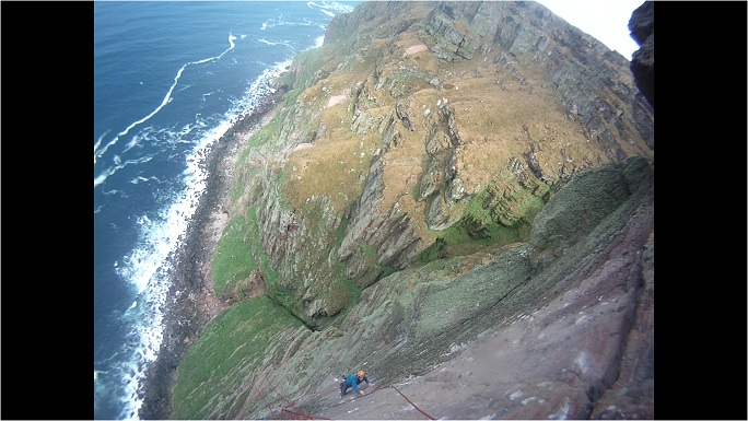 Ben Bransby on the last pitch of Long Hope, 105 kb