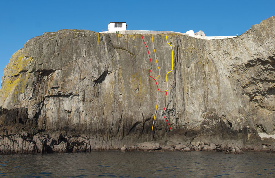 North Stack Wall - The Clown (red), The Cad (orange), The Bells, The Bells (yellow), 159 kb