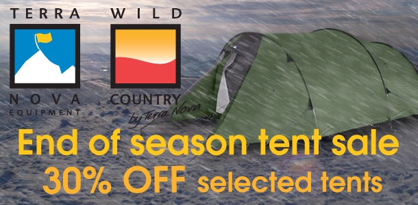 30% off selected Terra Nova and Wild Country tents at Outside.co.uk