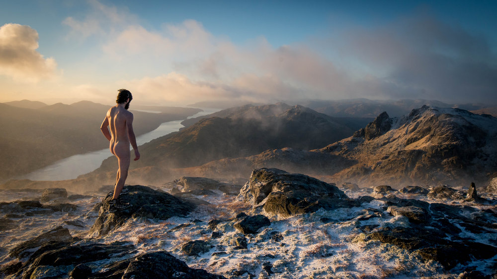 """""""Something something raw naked beauty of the Scottish landscape"""" The Cobbler from the cold summit of Beinn Narnain., 163 kb"""
