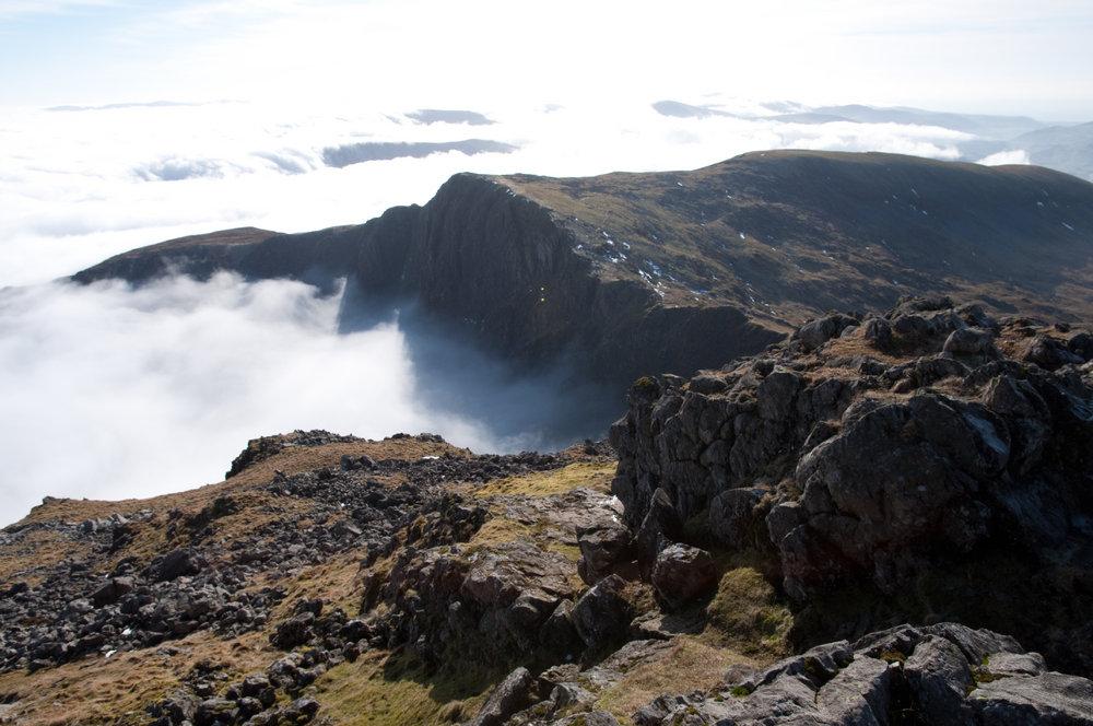 Cwm Cau from Penygadair, Cadair Idris, 160 kb