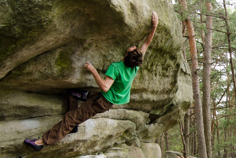 Nick Brown climbing, 160 kb