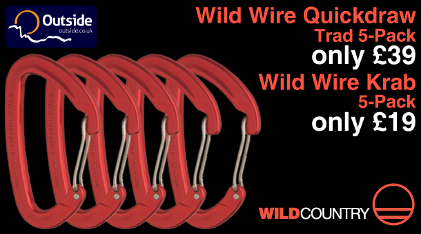 Mega deals on Wild Country Wild Wire Quickdraw and karabiner multipacks