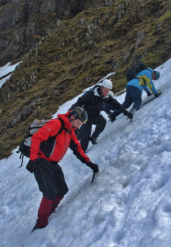 Learning to descend, on a BMC winter skills course, 129 kb