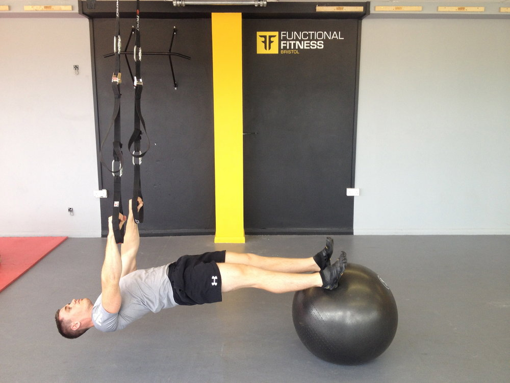 Hanging back plank with ball, 87 kb