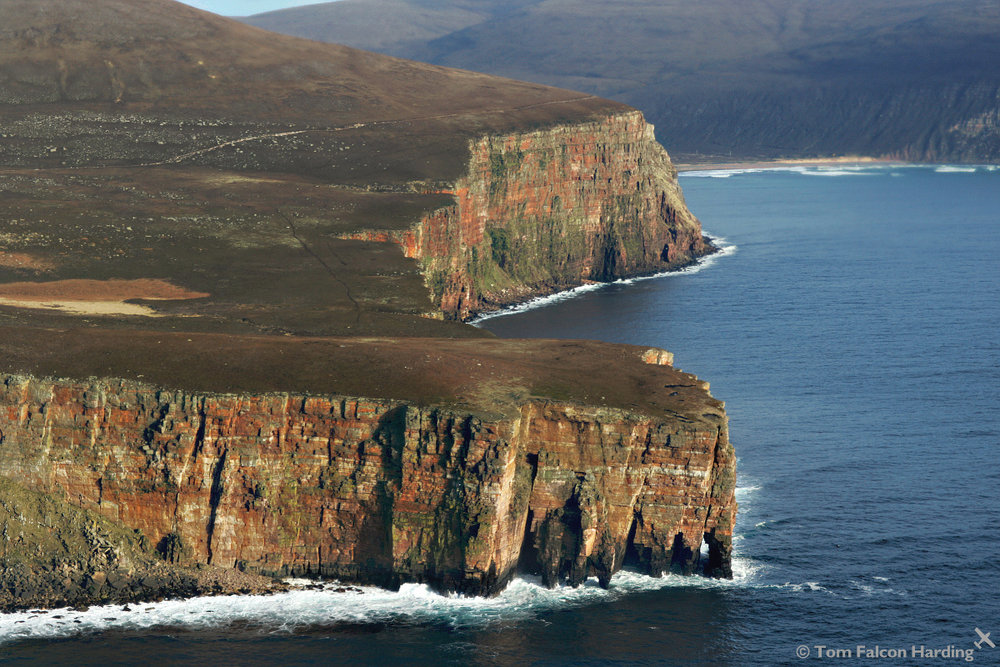 Aerial Photograph of Rora Head, Orkney, 214 kb