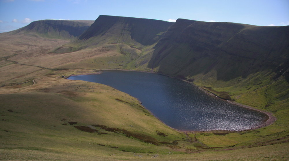 Fan Brycheiniog and Picws Du are two of the remote hills in Mynydd Du in South Wales, 102 kb