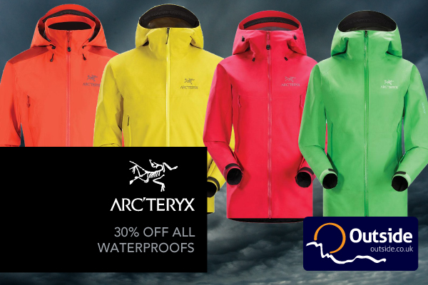 30% off all Arc'teryx Hardshell Jackets and Trousers at outside.co.uk