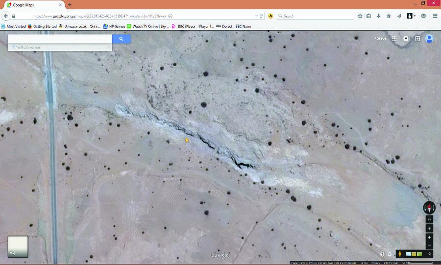 Wadi Mawan from Google Earth, 255 kb
