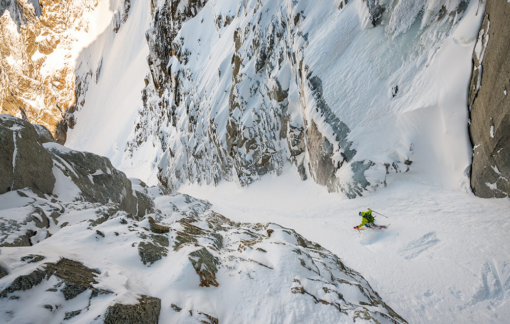 Tom Grant in the North Couloir, Col du Plan, Chamonix, 217 kb