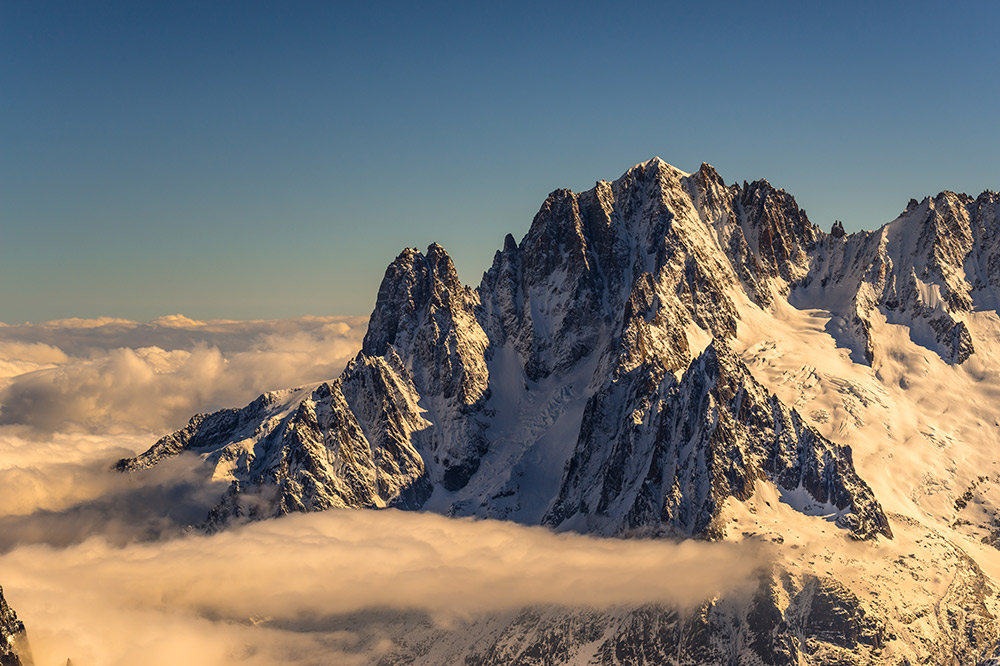 Aiguille Verte at Sunrise from the Tour Ronde, 216 kb