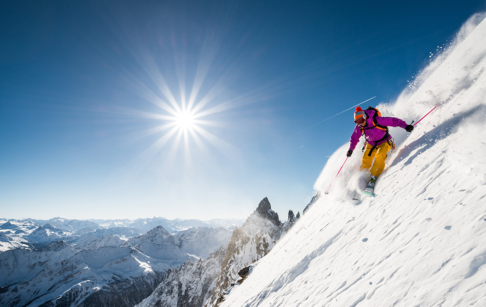 Minna Riihimaki on the East face of the Aiguille d'Entreves, 215 kb