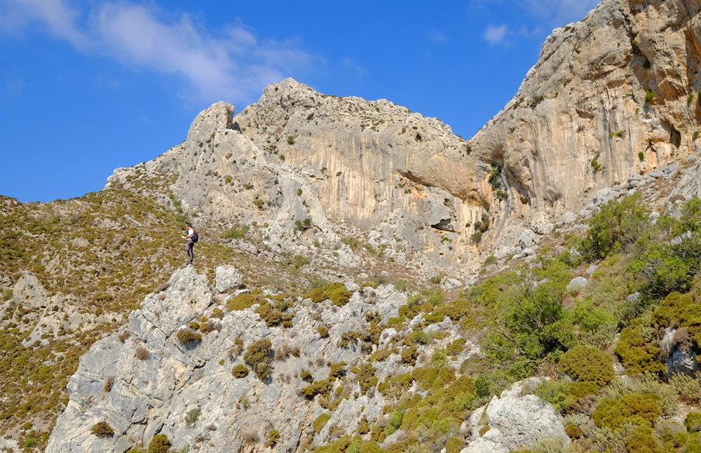 Day 3 on the Kalymnos Trail, a shepherds' path below Psili Riza, 221 kb
