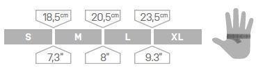 Ocun Glove Size Chart, 6 kb