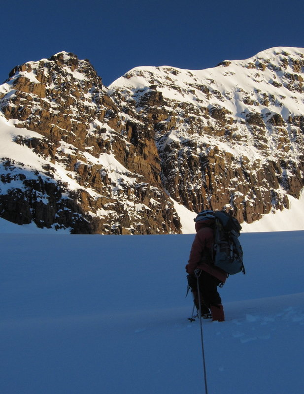Dawn on the Condoriri glacier, 112 kb