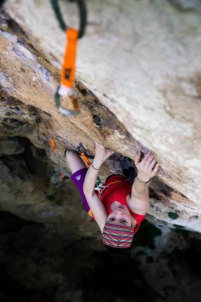 Sport climbing can help you progress in trad! Natalie Berry in Finale Ligure, 76 kb