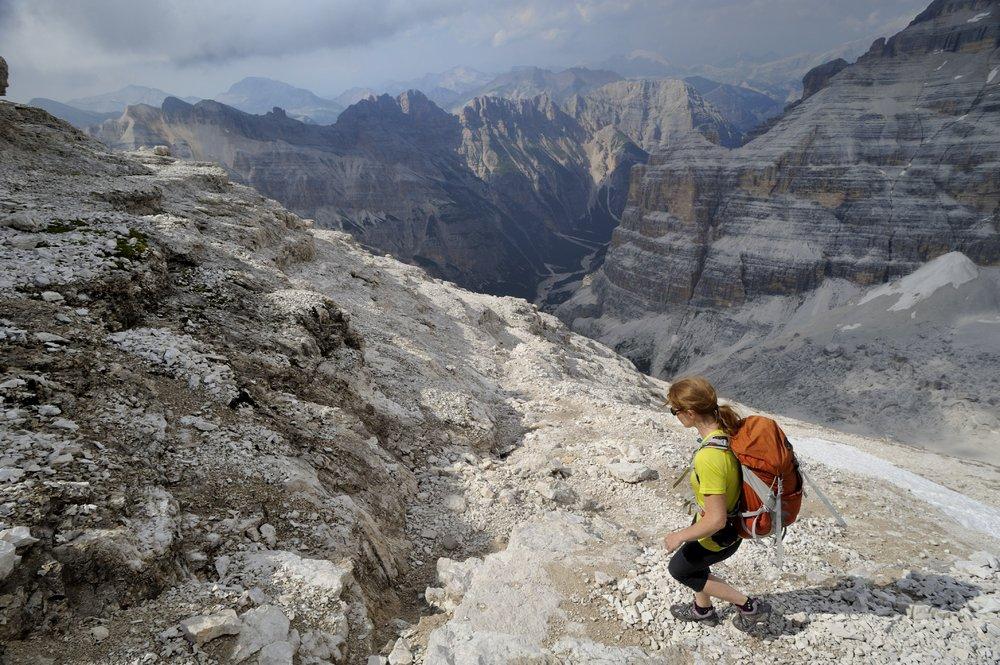 Descent from the guavanni lipella via ferrata above Cortina in the Dolomites last month, 194 kb