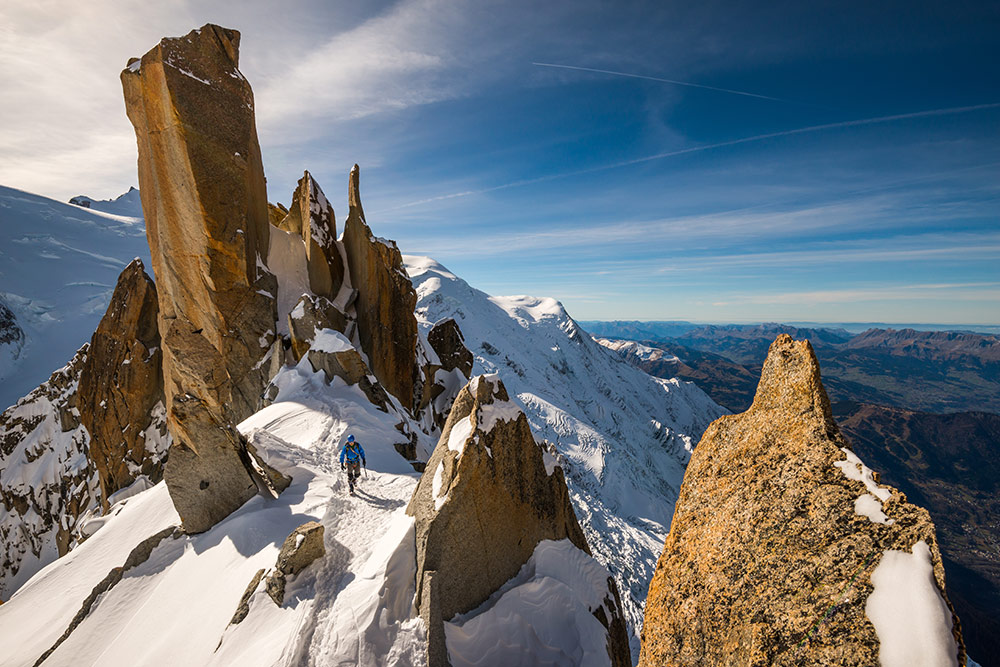 Steve Wakeford on the Cosmiques Arete, 199 kb