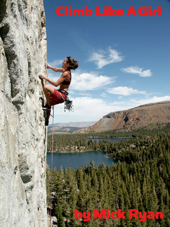 Sarah Schnieder at the Dike Wall above, Mammoth Lakes, California., 66 kb