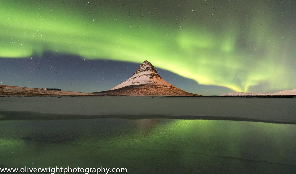Aurora over Kirkjufell, 99 kb