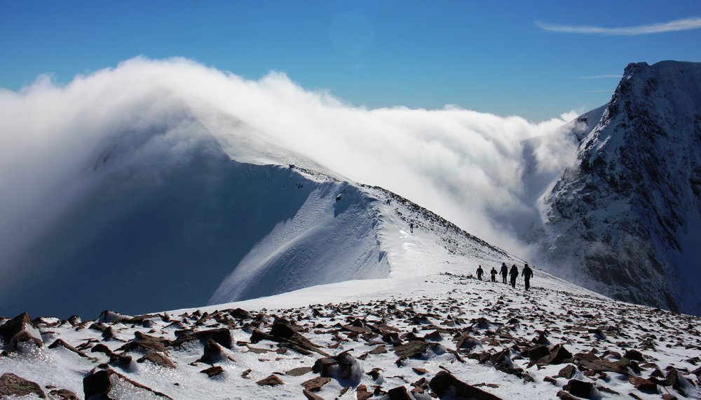 Carn Mor Dearg and Ben Nevis, 124 kb