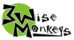 Three Wise Monkeys Climbing logo
