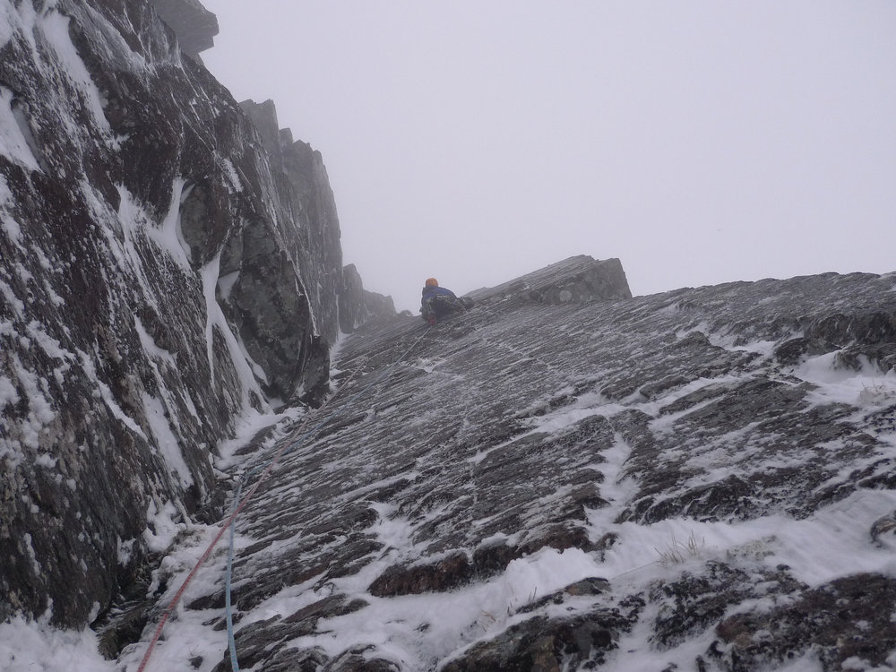 Iain Small making Scottish Winter VIII, 9 onsighting look easy, 164 kb