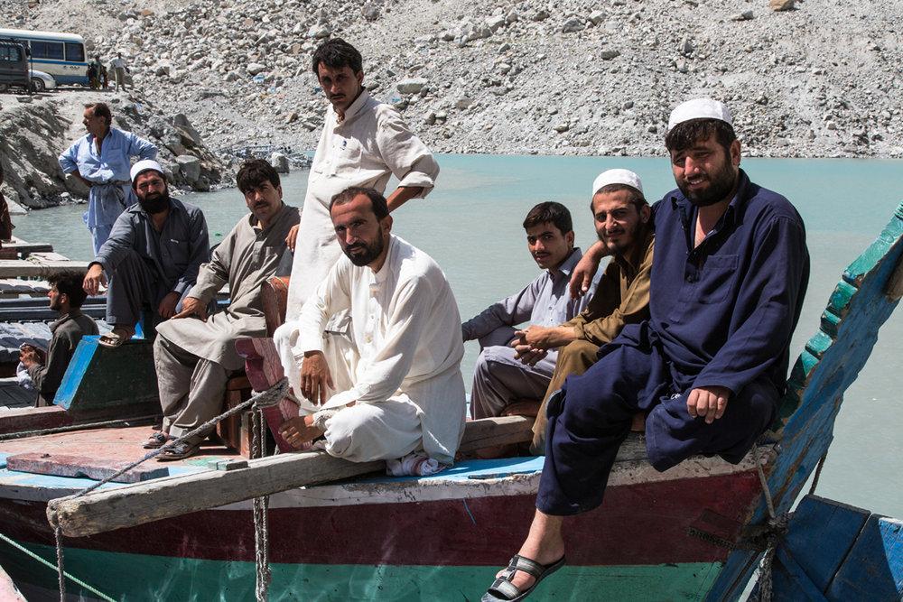 Hunza people at Ata Abad Lake, 240 kb