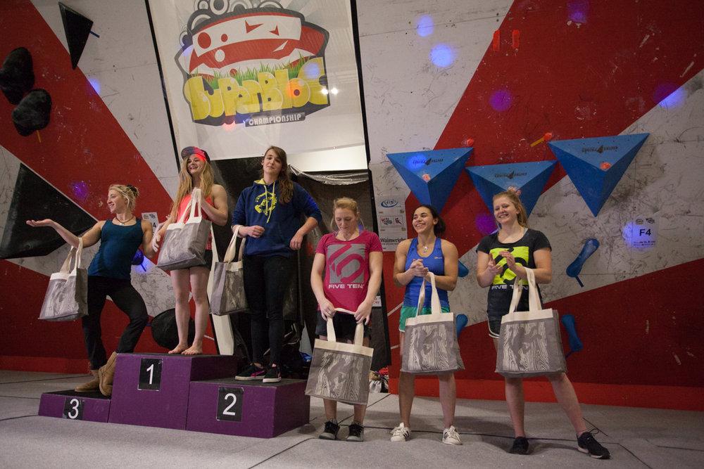 The women's SuperBloc podium, 158 kb