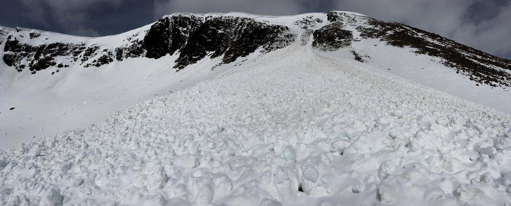 Avalanche debris - An Garbh Choire , 92 kb