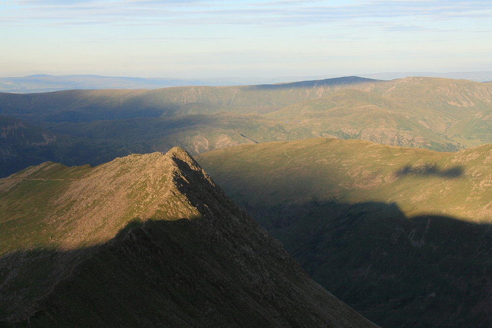 Rampsgill Head, highest obligatory point on the C2C, from Helvellyn, the highest optional top, 97 kb
