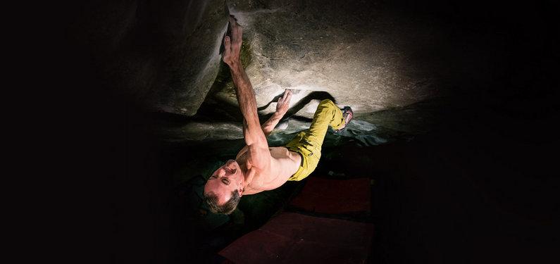 Dave MacLeod on Practice of the Wild 8C, 45 kb