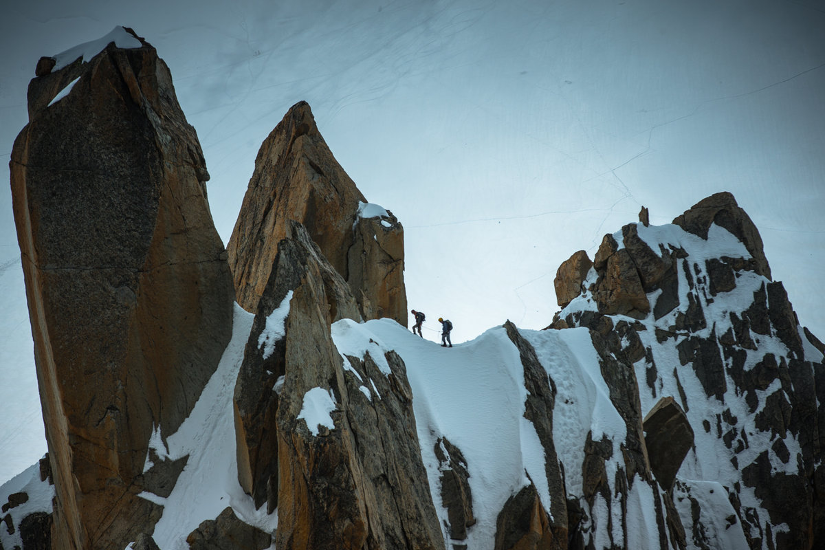 Climbers in the Mont Blanc Range on a previous Arc'teryx Alpine Academy, 211 kb