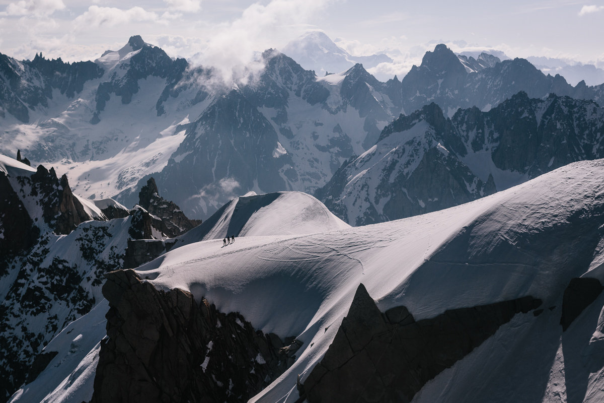 Climbers in the Mont Blanc Range on a previous Arc'teryx Alpine Academy, 195 kb