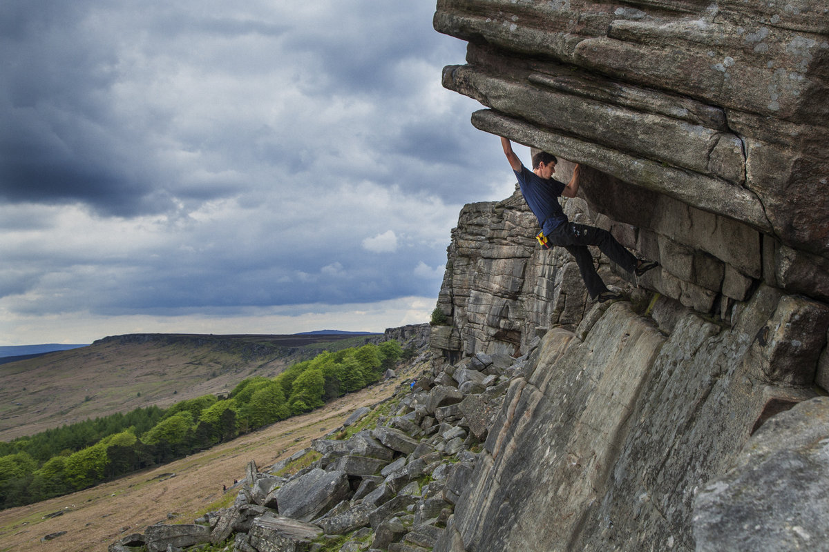 Alex Honnold soloing on the lofty heights of Stanage last year, 250 kb