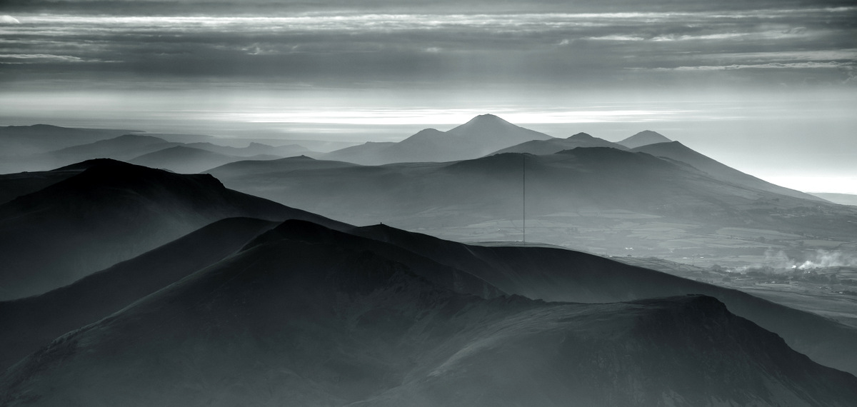 Evening haze from Snowdon, 124 kb