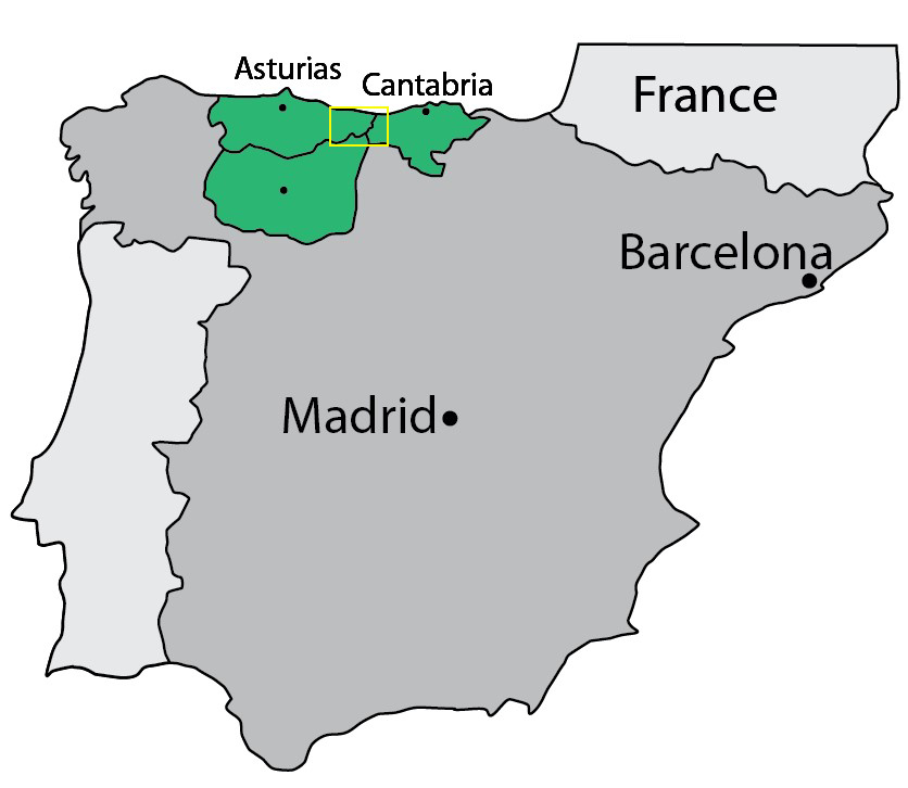 The Roca Verde regions are situated in the north-west of Spain 400km north of Madrid and 800km west of Cataluna, 89 kb